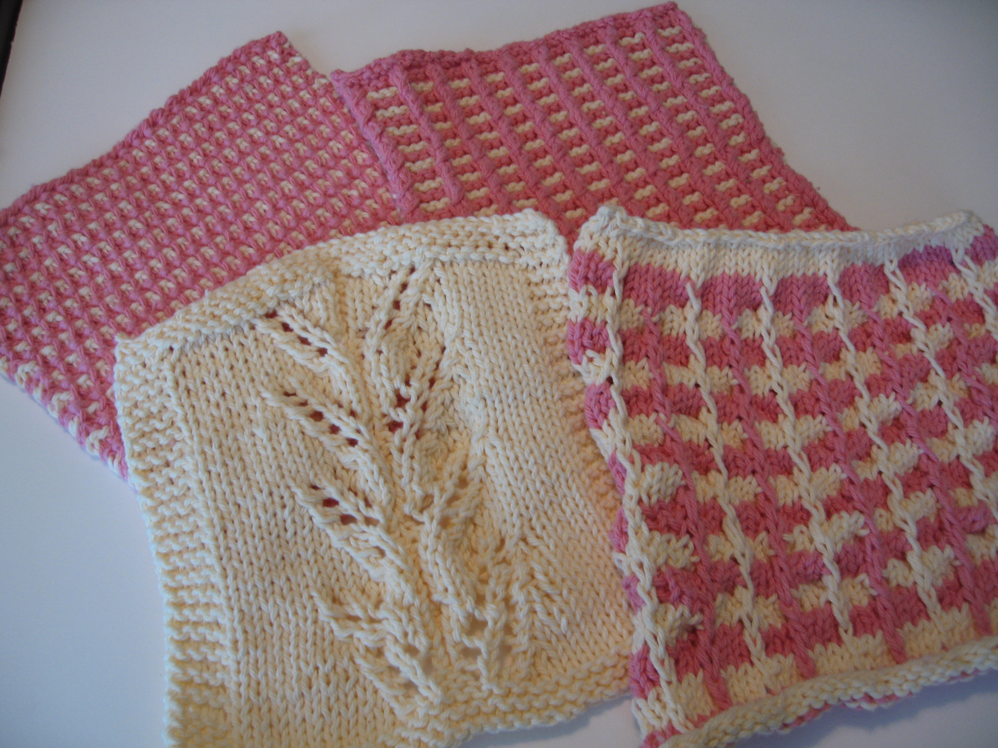 Knitting Techniques And Patterns : Knitting washclothes using for color techniques